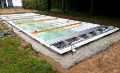 Réalisation isolation épaisseur +100cm autour de la piscine à Bonheiden