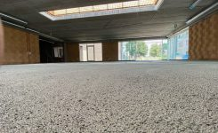 Realisatie Greenbead vloerisolatie 15cm bij renovatie te Nazareth – 1200m² in fase 1