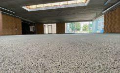 Réalisation Isolation sol Greenbead 15cm pour nouvelle construction à Nazareth – 1200m² en phase 1